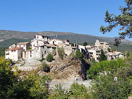 A general view of the village of Collongues