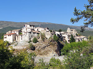 Collongues, Alpes-Maritimes - A general view of the village of Collongues