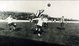Photograph of a football match