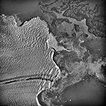 Columbia Glacier, Calving Terminus, Heather Island, August 25, 1969 (GLACIERS 1021).jpg