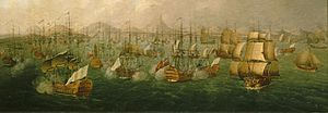 Praia - A depiction of Praia during the Battle of Porto Praya.