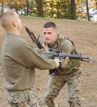 OKC-3S bayonet - Marines at bayonet practice
