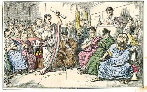 Comic History of Rome Table 10 Cicero denouncing Catiline