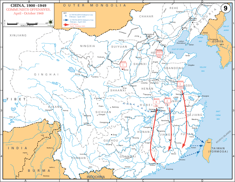 Communist Offensives April - October 1949