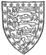 Fig. 706.—John of Eltham (second son of Edward II.): England with a bordure of the arms of France. (From his tomb.)