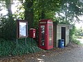 Compton Abbas, postbox No. SP7 29 and phone - geograph.org.uk - 1509603.jpg
