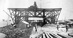 Hardinge Bridge - Hardinge Bridge construction (1910)
