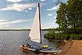 Contemporary baidarka with sail.jpg