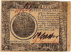 Continental Currency $7 banknote obverse (September 26, 1778).jpg