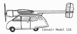 Convair Model 116 Zeichnung