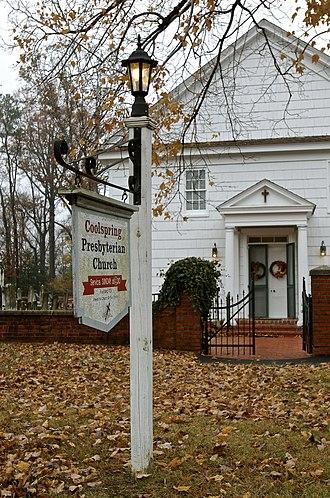 Cool Spring Presbyterian Church - Image: Coolspring Church Sign
