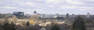 Corby - Corby town centre skyline, seen from Oakley Woods