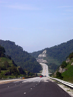 U.S. Route 119 - Corridor G north of Logan, West Virginia.
