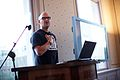 Cory Doctorow gives the Bits of Freedom Godwin lecture 2015.jpg