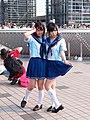 Cosplayers of Nene Anegasaki and Manaka Takane from LovePlus at Comic Market 84 20130810.jpg