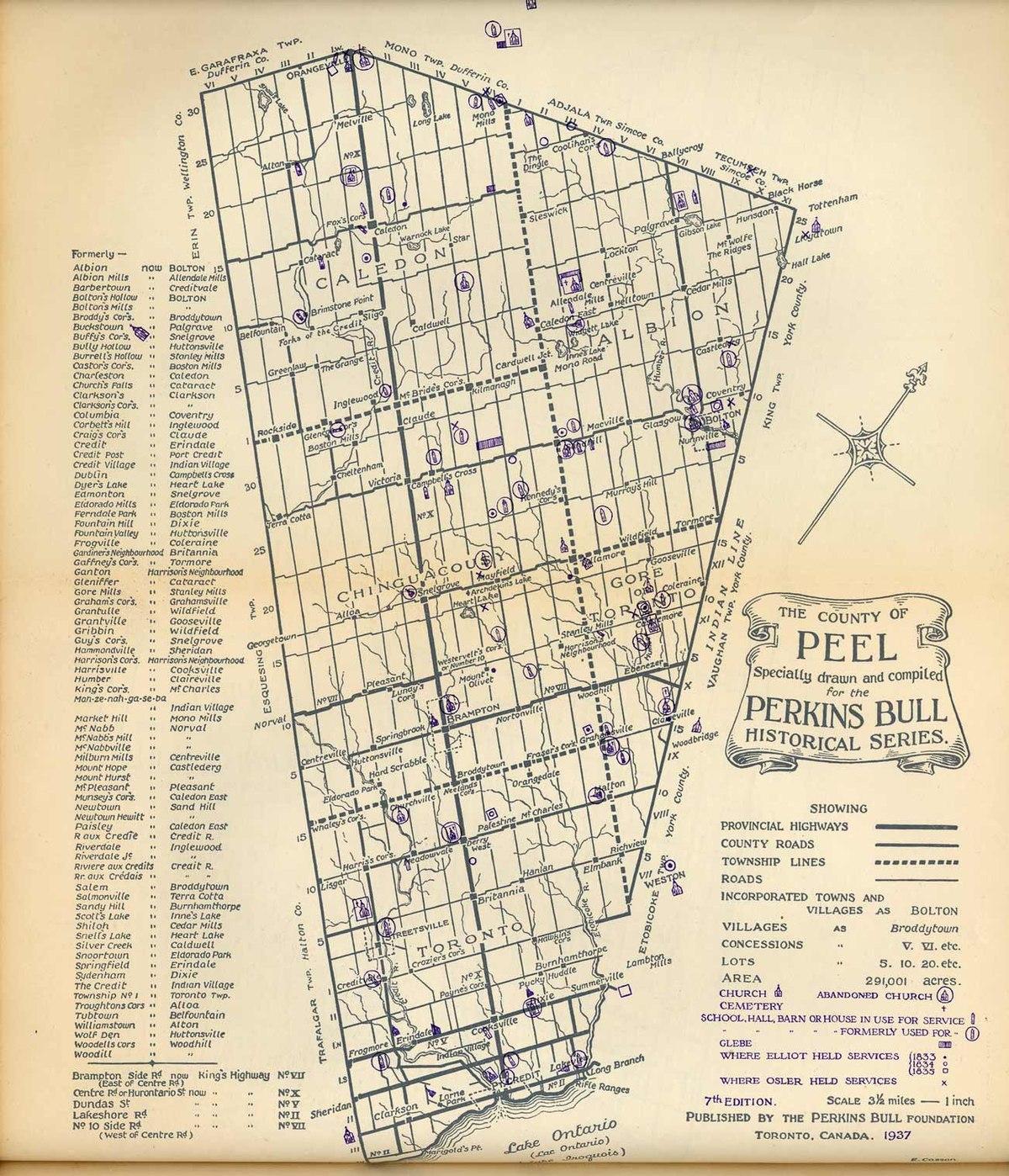 Peel County Ontario Wikipedia