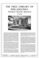 Cover Sheet - Free Library of Philadelphia, Thomas Holme Branch, 7810 Frankford Avenue, Philadelphia, Philadelphia County, PA HABS PA-6754 (sheet 1 of 6).png