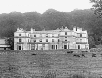 Creedy, Sandford - Creedy Park, Sandford, Devon, south front in 1904. This is the house built in 1846 and destroyed by fire in 1915