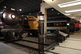 Canadian Railway Museum - Image: Crm trains 1