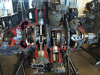 Pratt & Whitney R-2800 Double Wasp - Image: Cross Section of a Pratt and Whitney R2800 Double Wasp