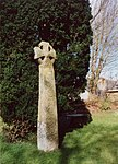 Cross in the churchyard about 5m west of tower of Church of St Nivet