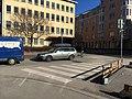 Crosswalk across former slip lane (42309789961).jpg