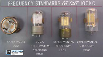 Crystal oscillator - Very early Bell Labs crystals from Vectron International Collection