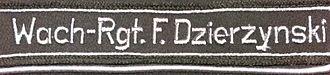 Felix Dzerzhinsky Guards Regiment - Image: Cuff title Dzierzynski
