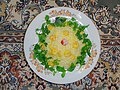 Cuisine of Iran آشپزی ایرانی 08-خوراک میگو با برنج و سبزی.jpg