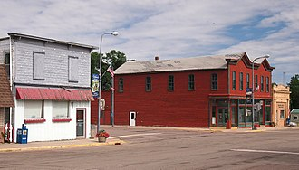 Currie, Minnesota - Part of Currie's main street