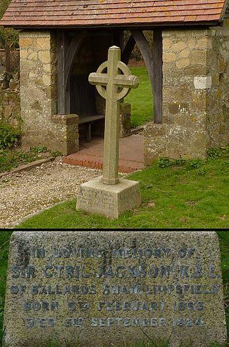Cyril Jackson (educationist) - Image: Cyril Jackson grave Limpsfield