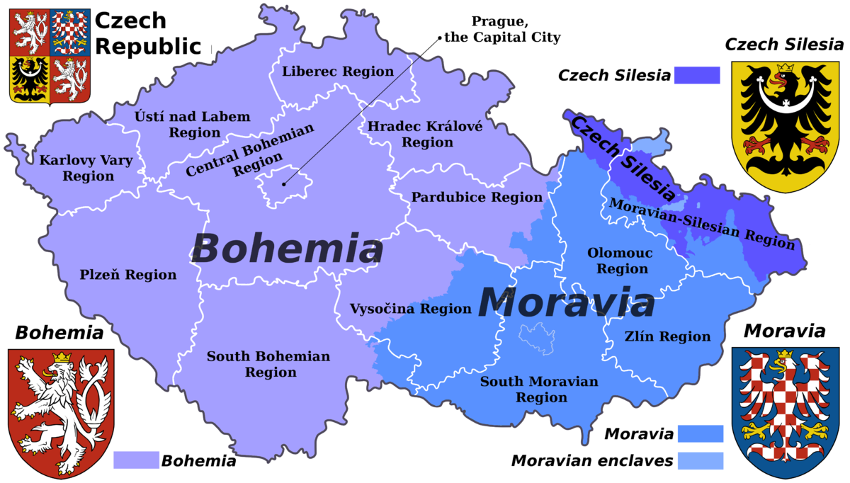Map Of Bohemia Czech lands   Wikipedia Map Of Bohemia