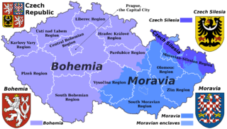 Czech lands historical regions of Bohemia, Moravia, and Czech Silesia