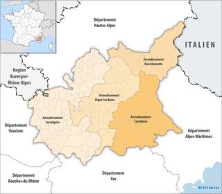 Arrondissements of the Alpes-de-Haute-Provence department