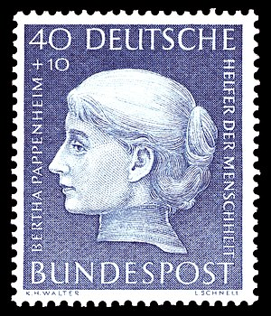 Anna O. - German postage stamp (1954) in the series Benefactors of Mankind
