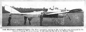 DFW Mars - DFW Mars during military trials in 1913