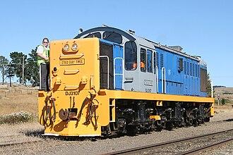 New Zealand DJ class locomotive - DJ 3107 on the Taieri Gorge Railway