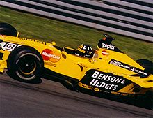 Photo de Damon Hill à bord de la Jordan 199 au Grand Prix du Canada 1999