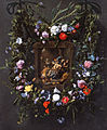 Daniël Seghers and Simon de Vos - A Garland of Flowers Surrounding a Mocking of Christ.jpg