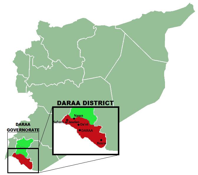 Daraa District Map