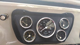 Speedometer - Dashboard speedometer in a Jeep