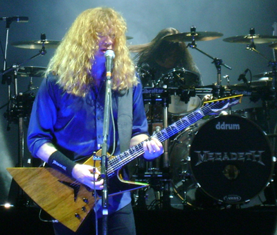 Dave Mustaine performing with Megadeth in Hartford, CT, with his Dean Zero. DaveMustaineHartford11.png