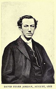 David Starr Jordan as a young man (1868) from Days of a Man