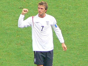 David Beckham, England, own work (by ger1axg).