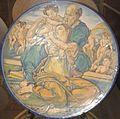David Zipiroc, piatto con Sacra Famiglia (da Michelangelo).jpg