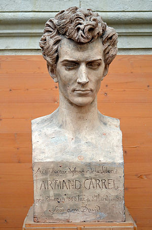 Armand Carrel - Bust of Armand Carrel by David d'Angers (1838).