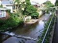 Dawlish Water and the rear of Brook Street, Dawlish - geograph.org.uk - 1359786.jpg