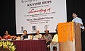 Dayanidhi Maran addressing at the inauguration of the 'Museum Shop' by the Handlooms and Handicrafts Export Corporation (HHEC), with new product line, at National Museum, in New Delhi on September 28, 2010.jpg