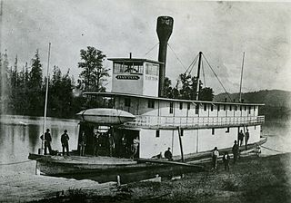<i>Dayton</i> (sternwheeler) steamboat operated on Willamette and Columbia rivers from 1868 to 1881