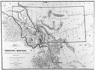 Montana Territory - Image: De Lacy Map Montana Territory 1865
